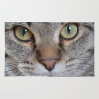 arya Area & Throw Rugs featuring Cat by Kellie Eickstead