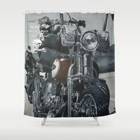 hook Shower Curtains featuring Hook Up by Andy Depp