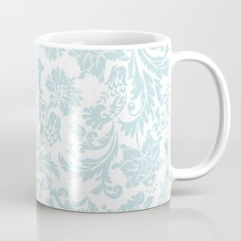 Light Blue & White Floral Damasks Coffee Mug