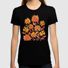 Sunflower Watercolor – Fiery Palette T-shirt