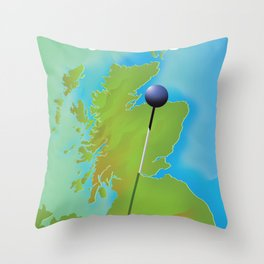 Stirling Scotland Travel poster, Throw Pillow