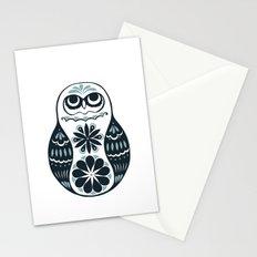 Flower Owl Matryoshka - Steel Stationery Cards