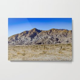 Looking Back towards Granite Mountain across the Highway in the Anza Borrego Desert State Park Metal Print