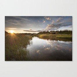 Danmark Landscape Summer Canvas Print