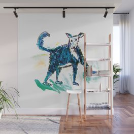 Little dog illustration Wall Mural