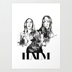 Haim the band Art Print