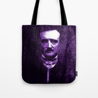 Tote Bags featuring E. A. Poe by Scar Design