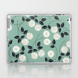 Pattern with white roses Laptop & iPad Skin