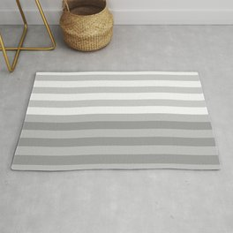 Horizons Abstract Landscape - Pastel Grays Rug