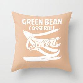 Green Bean Casserole Gift String Bean Throw Pillow