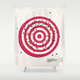 A Museum Infographic Shower Curtain