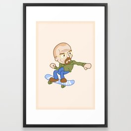 breaking badass. Framed Art Print