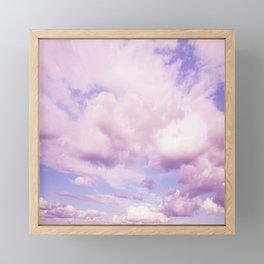 Pink Clouds In The Blue Sky #decor #society6 #buyart Framed Mini Art Print
