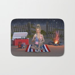 Happy Independence Day Bath Mat