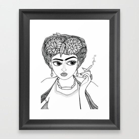 Ode to Frida Framed Art Print