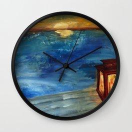 Lakeside Sunset Wall Clock
