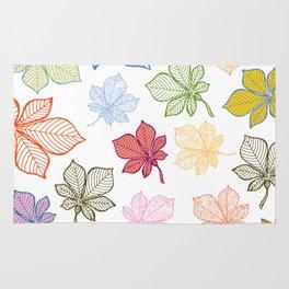 Autumn Leaves Pattern XIV Rug
