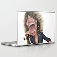 tyler spangler Laptop & iPad Skins featuring Steven Tyler by Sant Toscanni