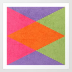 autumn triangles Art Print