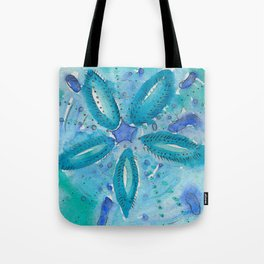 Mermaid's Coin Watercolour abstract Tote Bag