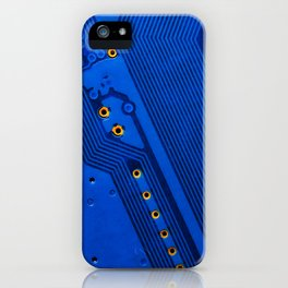 Circuit Board Blues iPhone Case