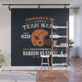 Generic Football T-Shirt Wall Mural