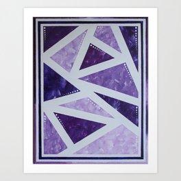 Purple Mosaic Art Print