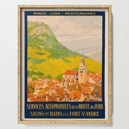 Vintage poster - Route du Jura, France Serving Tray
