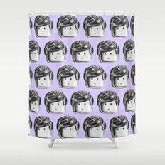 Minifigure Pattern - Violet Shower Curtain