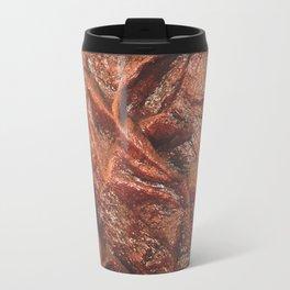 Brown Contours 1 Travel Mug