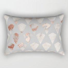 Rose gold marble pattern Rectangular Pillow