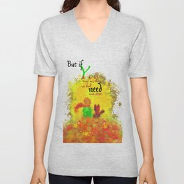 The Little Prince | Quotes | But if you tame me, then we shall need each other. Part 1 of 3 | #B2 Unisex V-Neck