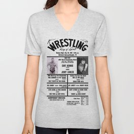 #13 Memphis Wrestling Window Card Unisex V-Neck