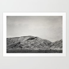 A Tiny Road to a Big Piece of Stone Art Print