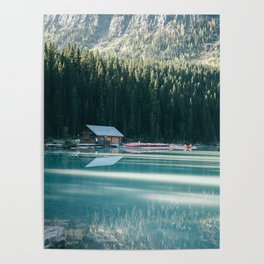 Lake Louise Canoes Poster
