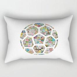 Philately Soccer Ball Rectangular Pillow