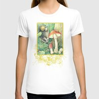 mushrooms T-shirts featuring Mushrooms by Natalie Berman