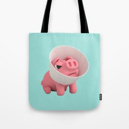 Rosa the Pig and Cone of Shame Tote Bag