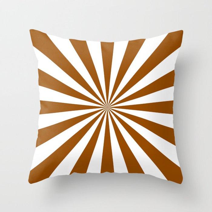 Starburst (Brown/White) Throw Pillow