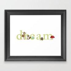 Woodland Dreams - Green Framed Art Print