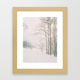 Aspen in snow - Beaver Creek, Colorado Framed Art Print