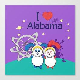 Ernest and Coraline | I love Alabama Canvas Print