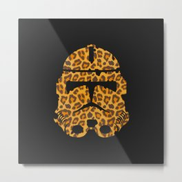 Leopard Storm Trooper Metal Print