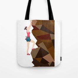 Vintage Cool Girl Rock Climbing Tote Bag