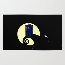 tardis  under the full moon Rug
