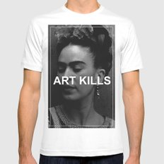 ART KILLS - FRIDA KAHLO LARGE White Mens Fitted Tee