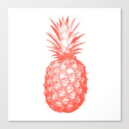 Coral Pineapple Canvas Print