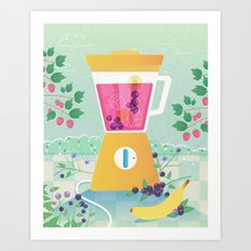 Smooth morning Art Print