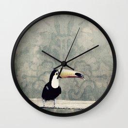 bohemian toucan Wall Clock