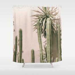 cactus art print Shower Curtain